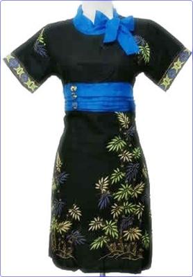 Model baju batik kombinasi 2014
