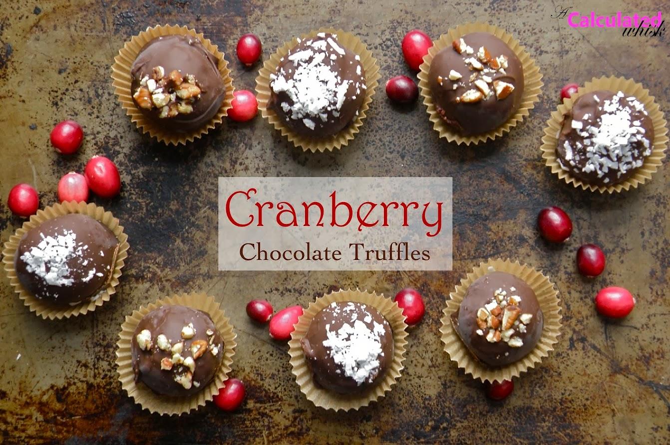 Cranberry Chocolate Truffles (Paleo, Vegan, Gluten-free)