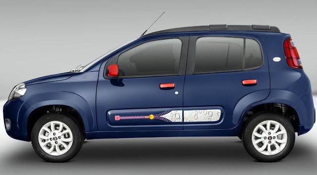 Novo Fiat Uno 2014 Azul