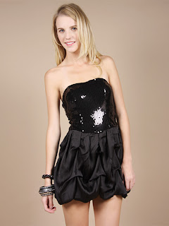 Black Balloon Dress