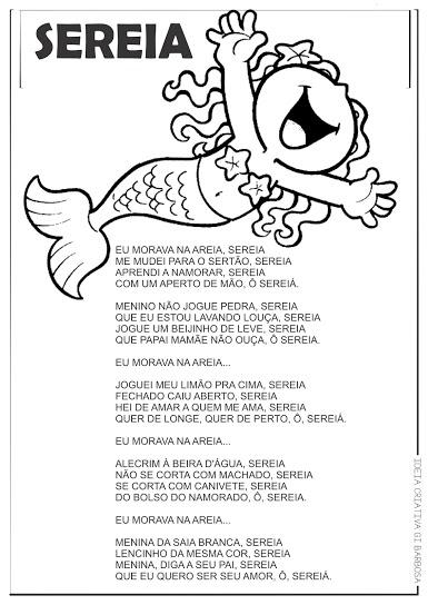 Cantiga de Roda Ilustrada Sereia
