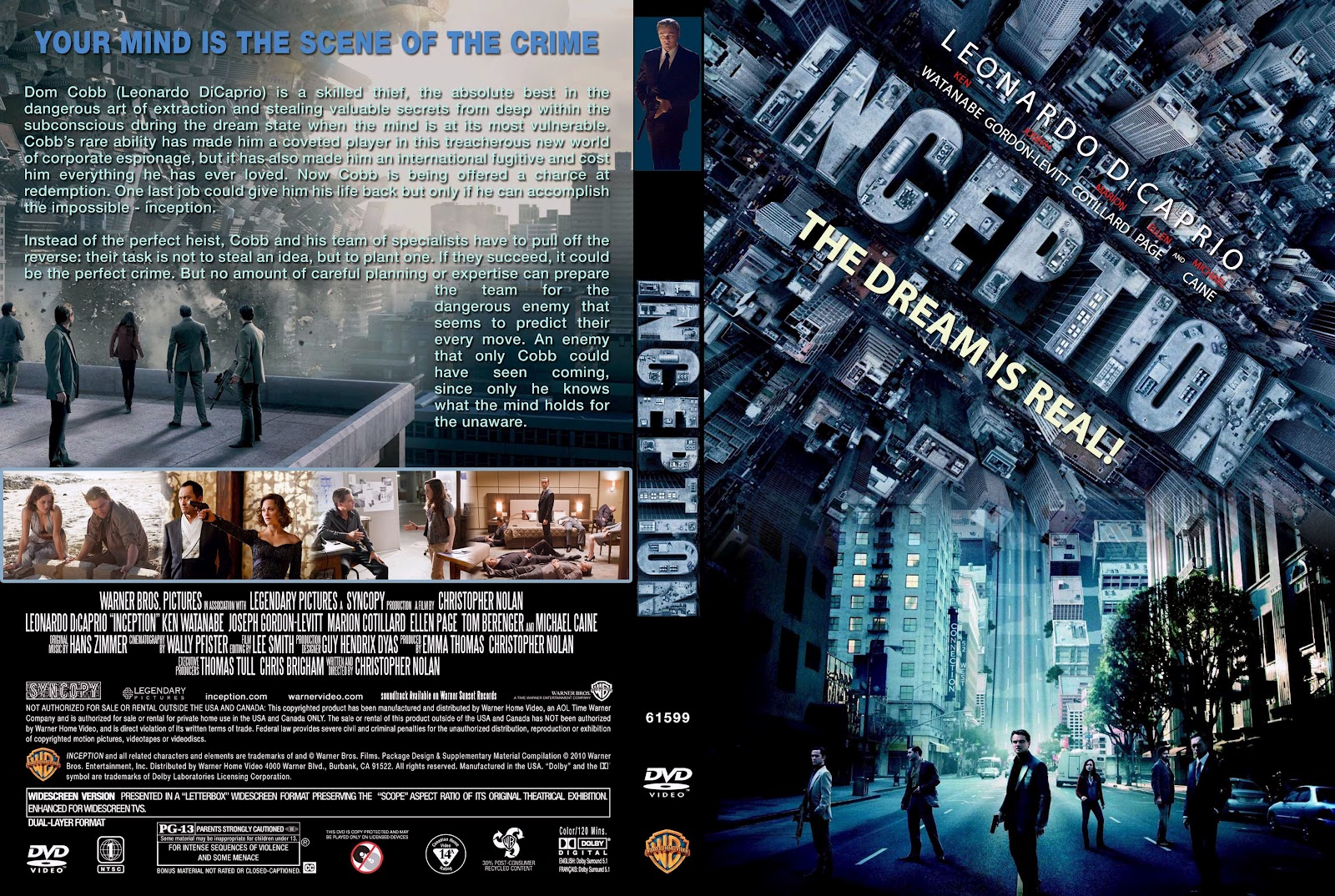 Inception Dvd Cover Art Inception (2010) | Mov...