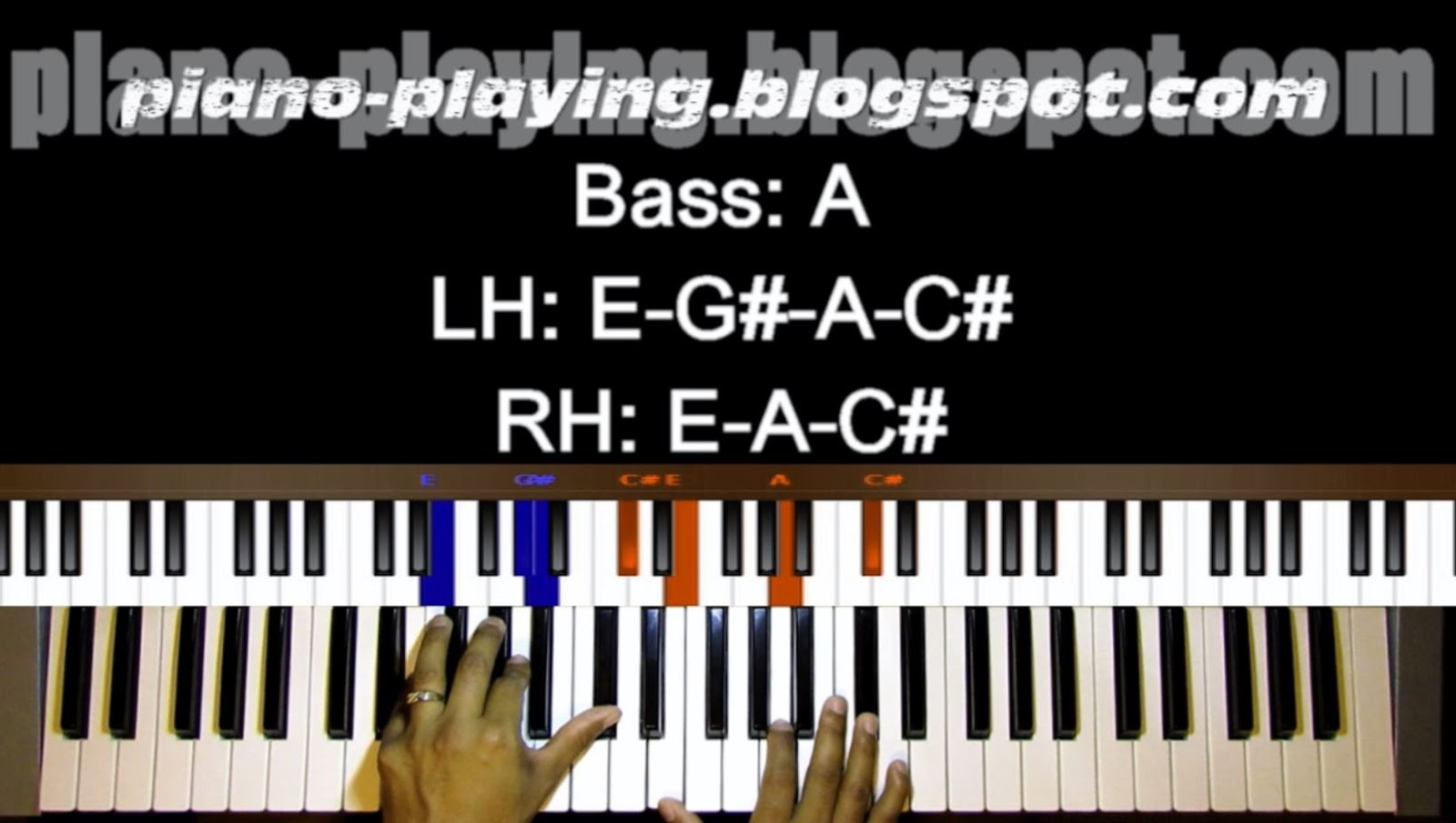 Piano playing piano tutorial for oh holy night in the key of a go back to part 1 and check if you can see the difference between playing a left hand chord and without most of the time the left hand chord is a copy hexwebz Image collections