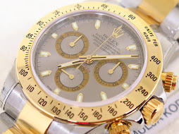 ROLEX DAYTONA COSMOGRAPH SUNBURST GREY SLATE DIAL TWO TONE YELLOW GOLD - ROLEX 116523 -SERIE V 2009