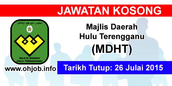 Jawatan Kerja Kosong Majlis Daerah Hulu Terengganu (MDHT) logo www.ohjob.info julai 2015