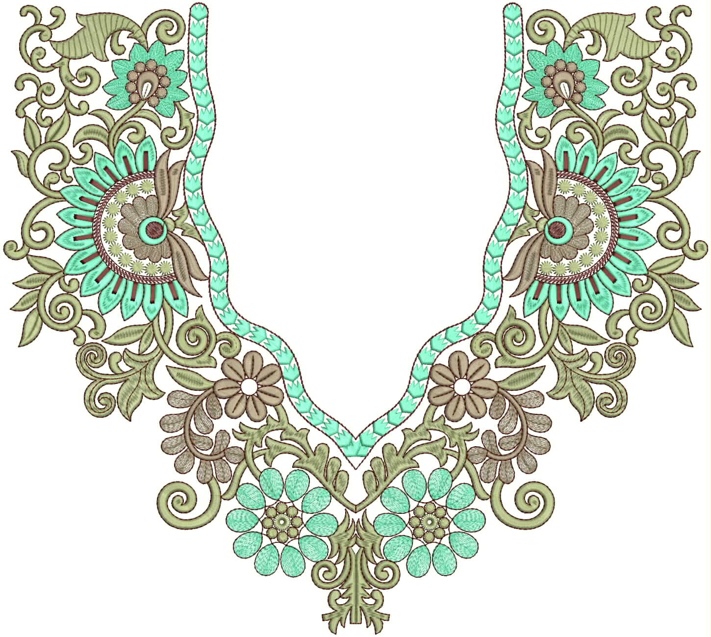 Ladies neck embroidery designs images wallpaper hd