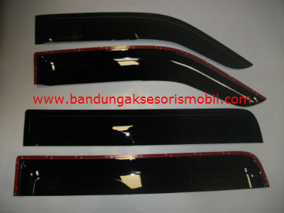 Talang Air New Everest Mugen Hitam 3M Depan Belakang