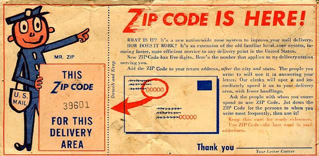 Zip Code - Mã bưu điện