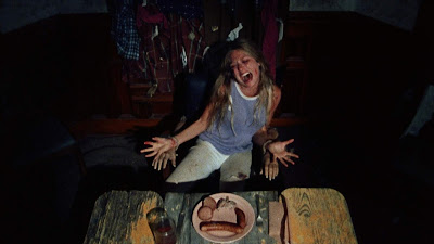 sally texas chainsaw massacre horror movie scary blood dinner eat food delicious foodporn