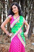 Pujitha sizzling in half saree-thumbnail-20
