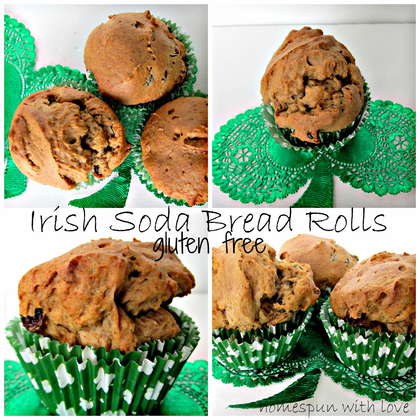 Homespun With Love: Irish Soda Bread Rolls ~ gluten free