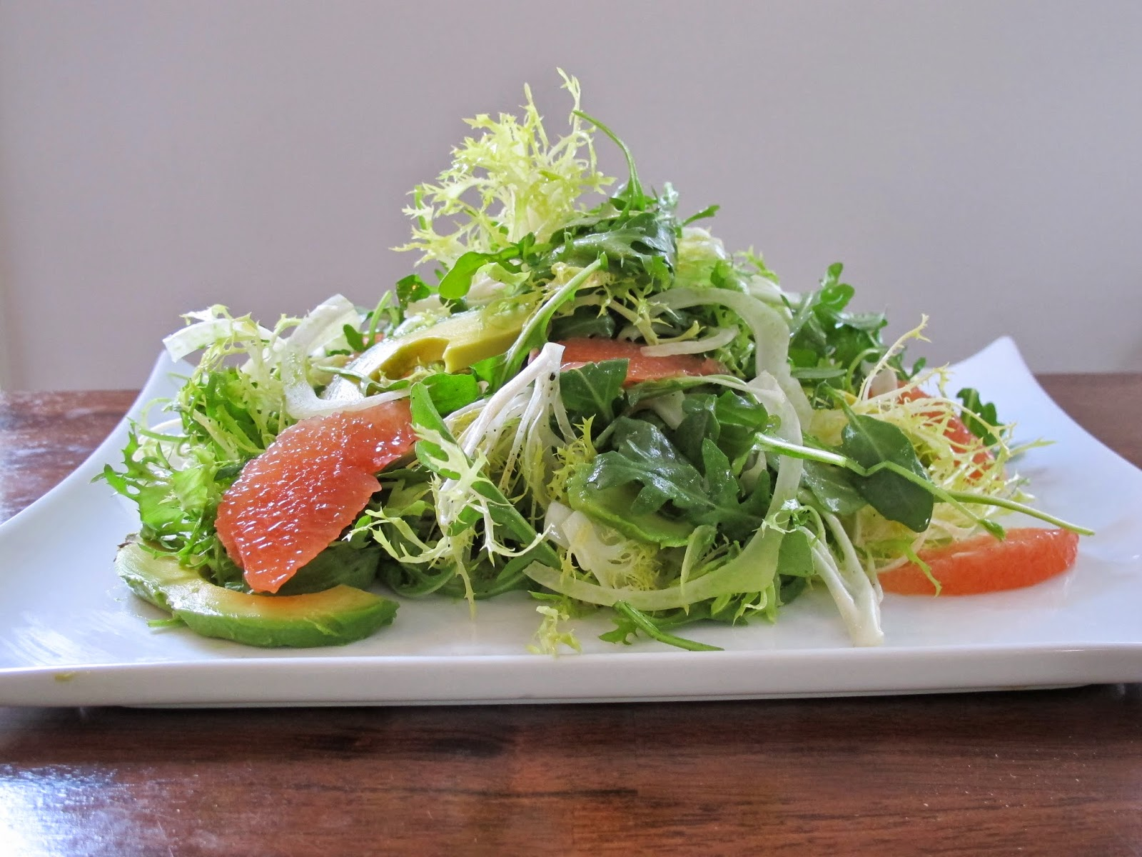 Grapefruit, Fennel, Avocado Green Salad