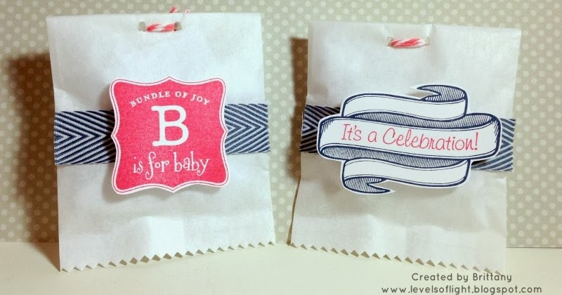 levels of light baby shower treat bags