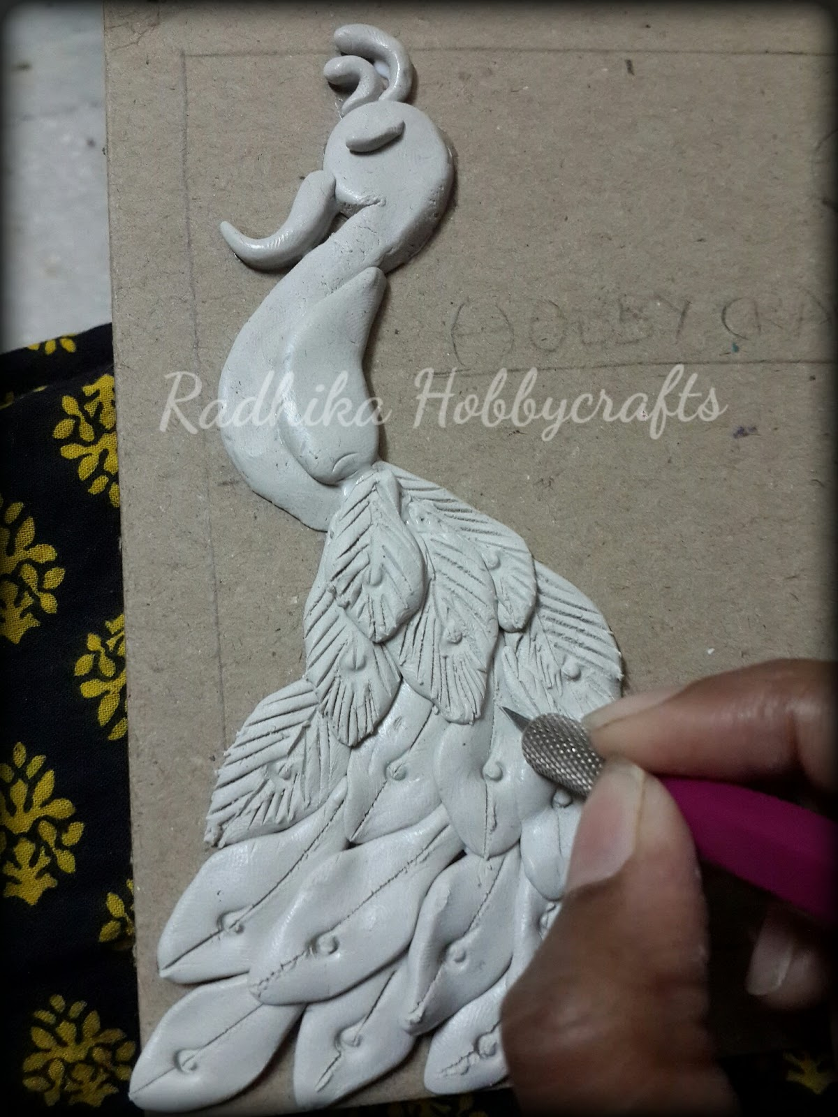 Hobby crafts cardboard door hanger for Mural work using m seal