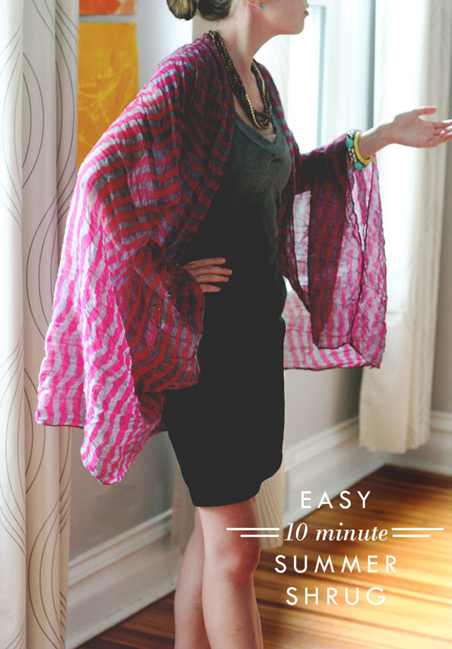 Easy Ten Minute Summer Shrug - Aunt Peaches