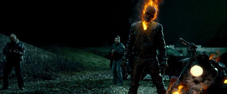 Screen Shot Of Hollywood Movie Ghost Rider 2 (2012) In English Full Movie Free Download And Watch Online At Downloadingzoo.Com