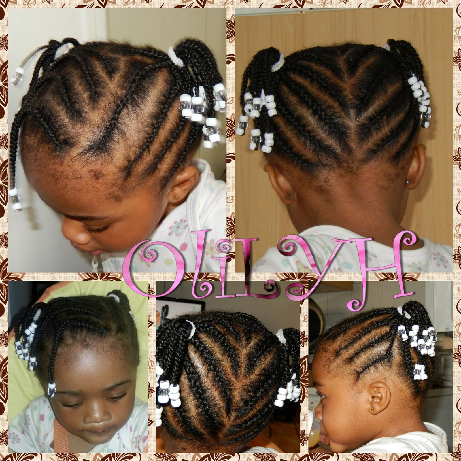Modele coiffure petite fille cheveux crepus