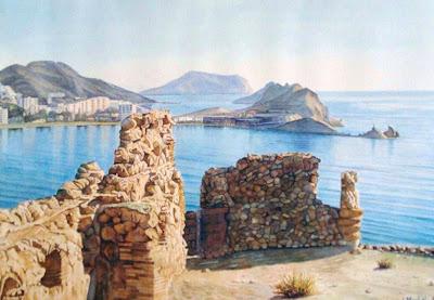 Pinturas cuadros lienzos paisaje pintado en acuarela - Papel pintado paisaje ...