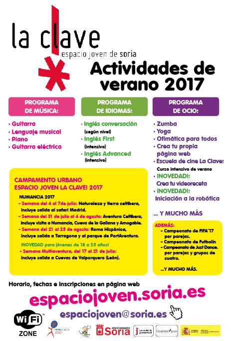ACTIVIDADES DE VERANO 2017
