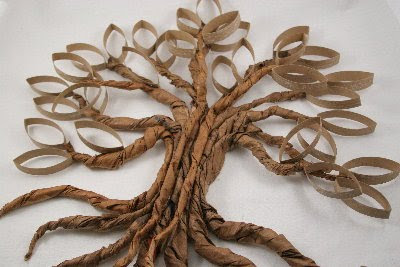 paper tree trunk