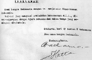 Sejarah: Isi Teks Proklamasi Kemerdekaan Indonesia RI