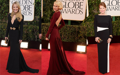 Kate Hudson (Alexander McQueen), Naomi Watts (Zac Posen) and Julianne Moore (Tom Ford)