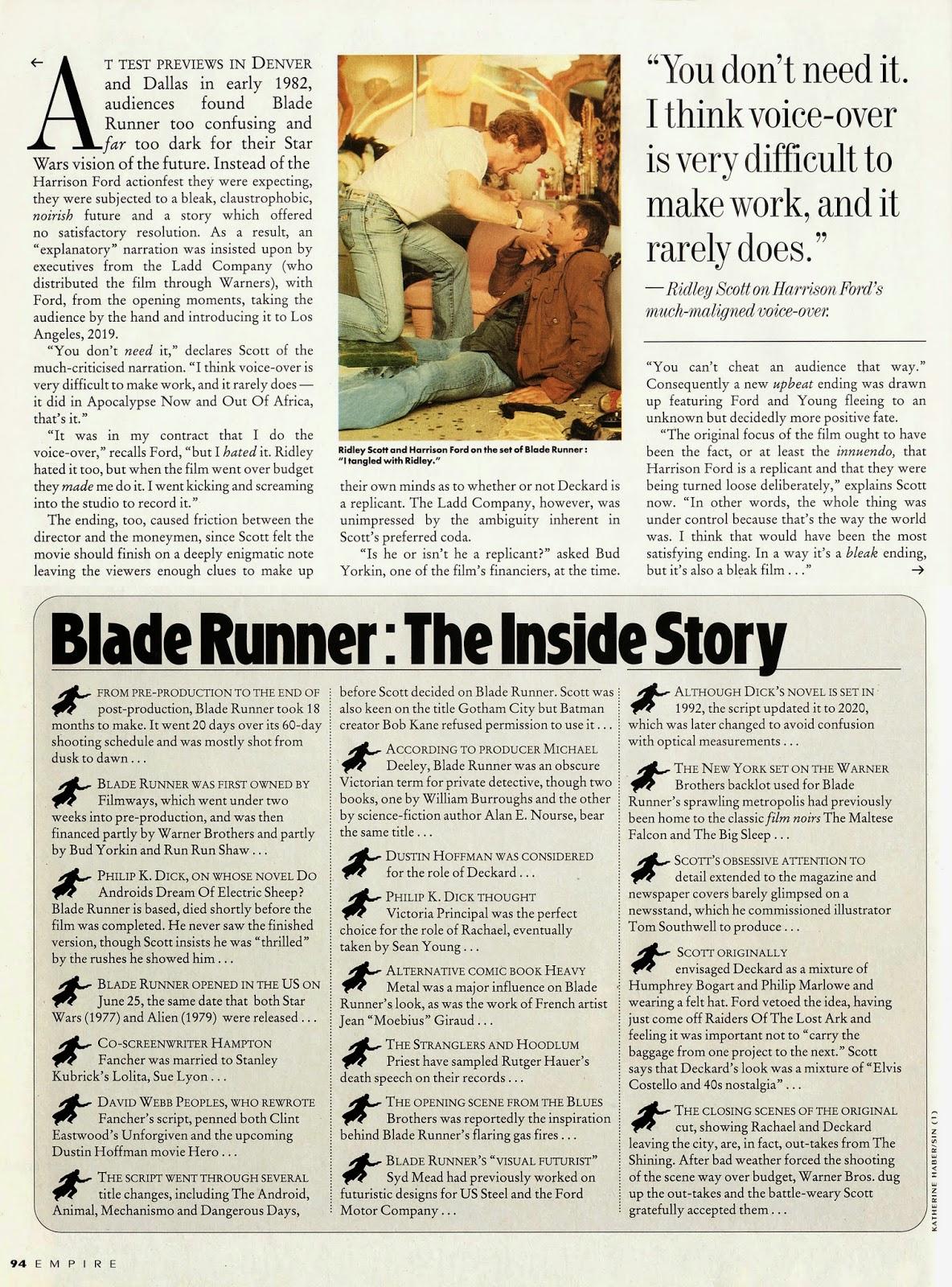 EMPIRE No.42 (Dec 1992) Blade Runner BlBladerunner_Empire4204