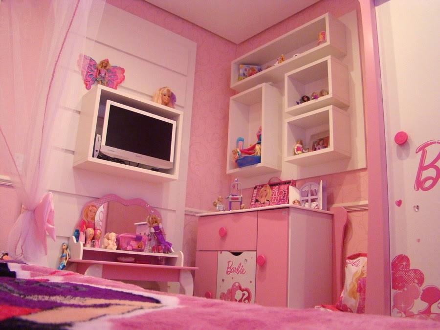 Quarto Temático para meninas: Barbie e Princesas