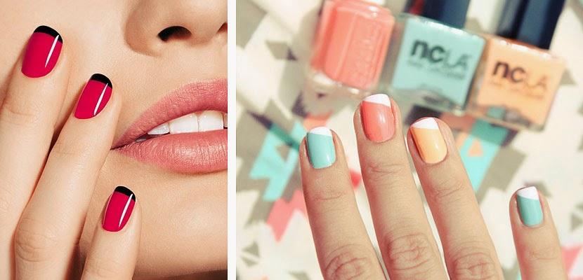 Tendencias de manicura verano 2015 alas de mariposa - Manicura francesa colores ...