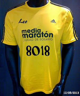 Remera Media maratón Adidas 2013, by Leo