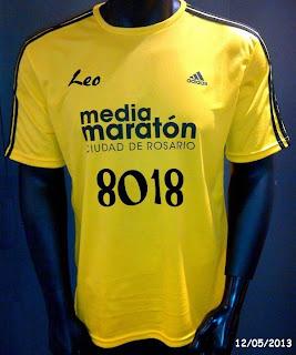 Remera Media maratón Adidas 2013, by Leo