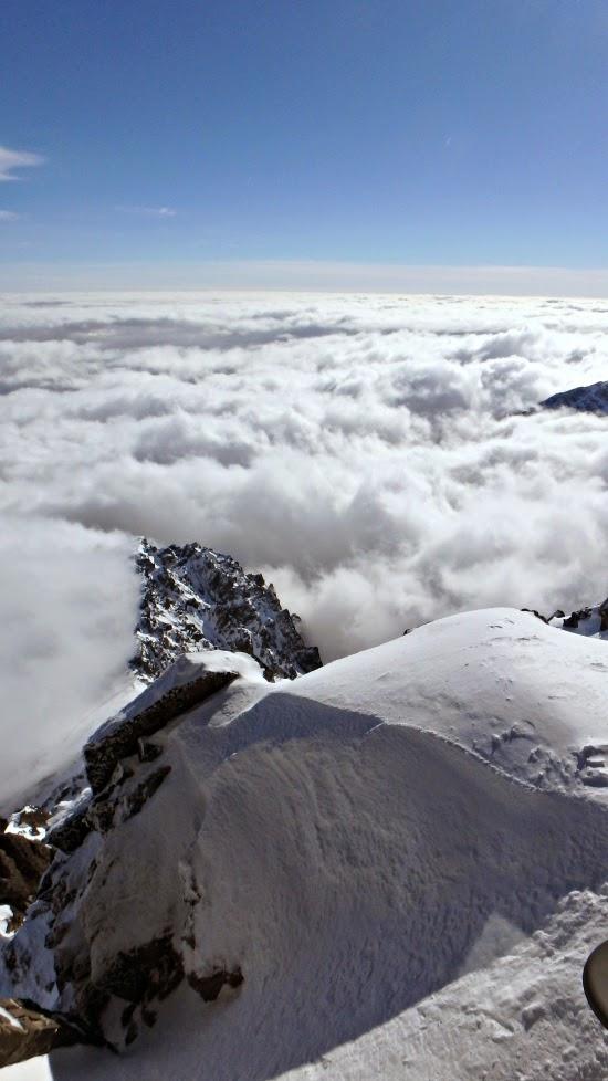 Top of Lomnický štít in Slovakia High Tatras
