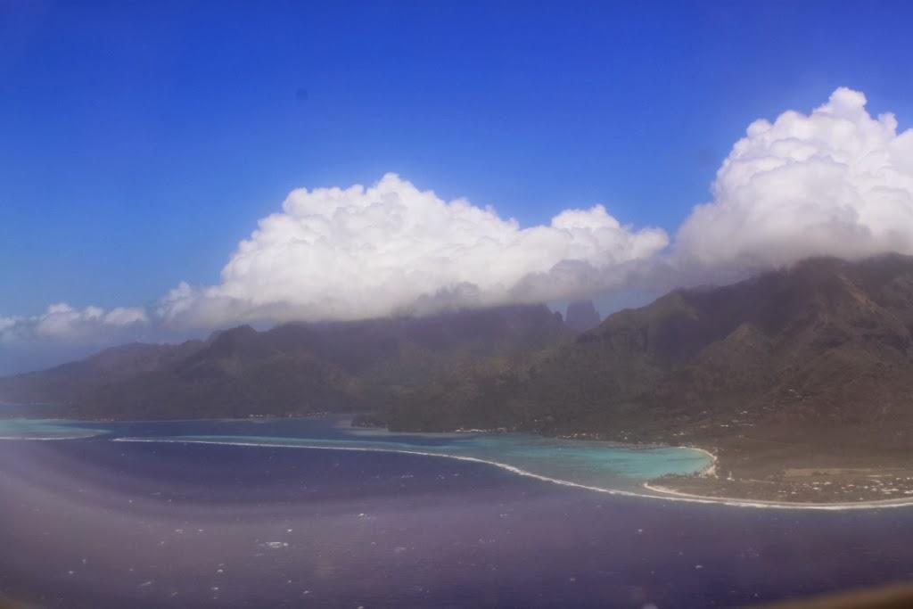 Polynésie vue du ciel