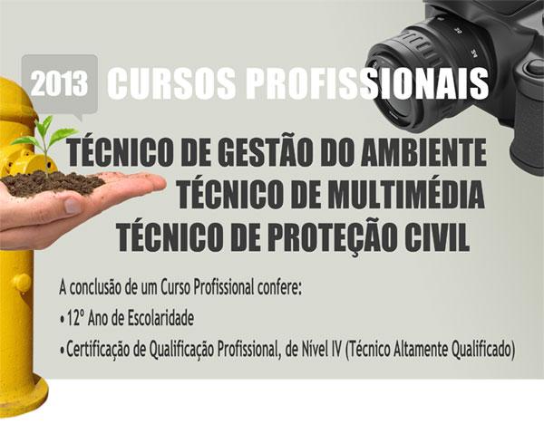 Cursos profissionais em Mirandela 2013/2014