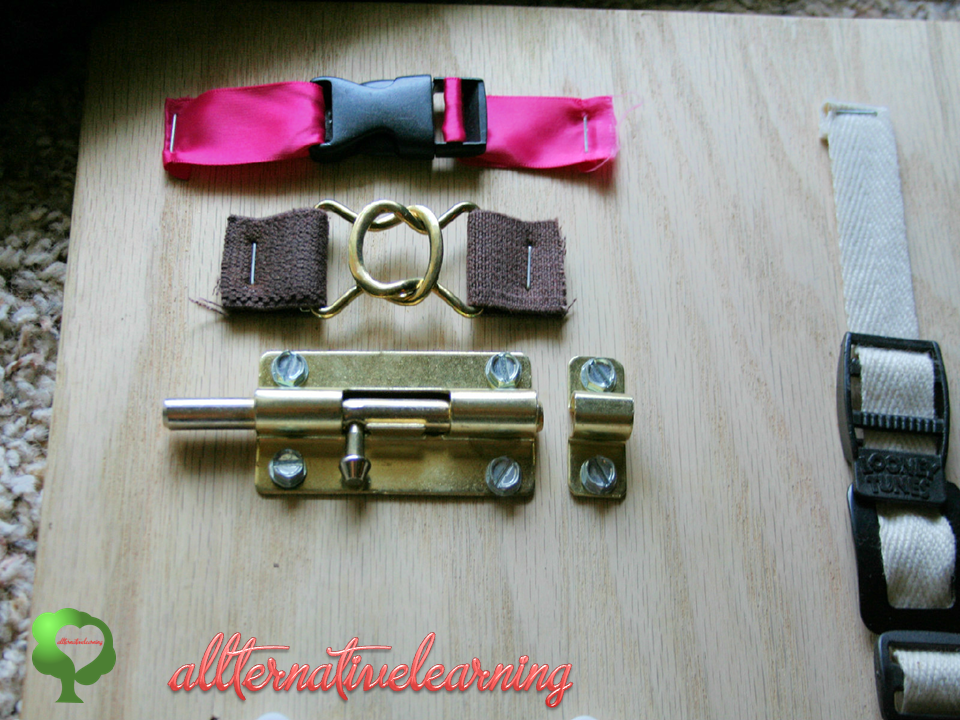 Latches on Sensory Board | ALLterNATIVElearning