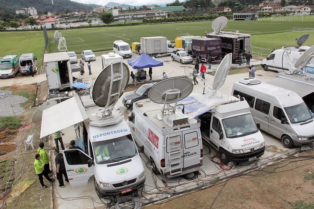 Profissionais da imprensa de diversas partes do mundo estão em Teresópolis para fazer a cobertura da estadia da Seleção na cidade