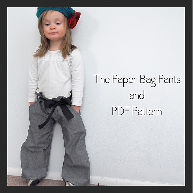 Free Pattern for toddler paper bag pants