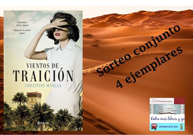 """SORTEO CONJUNTO """"VIENTOS DE TRAICIÓN"""" (CHRISTINE MANGAN)"""