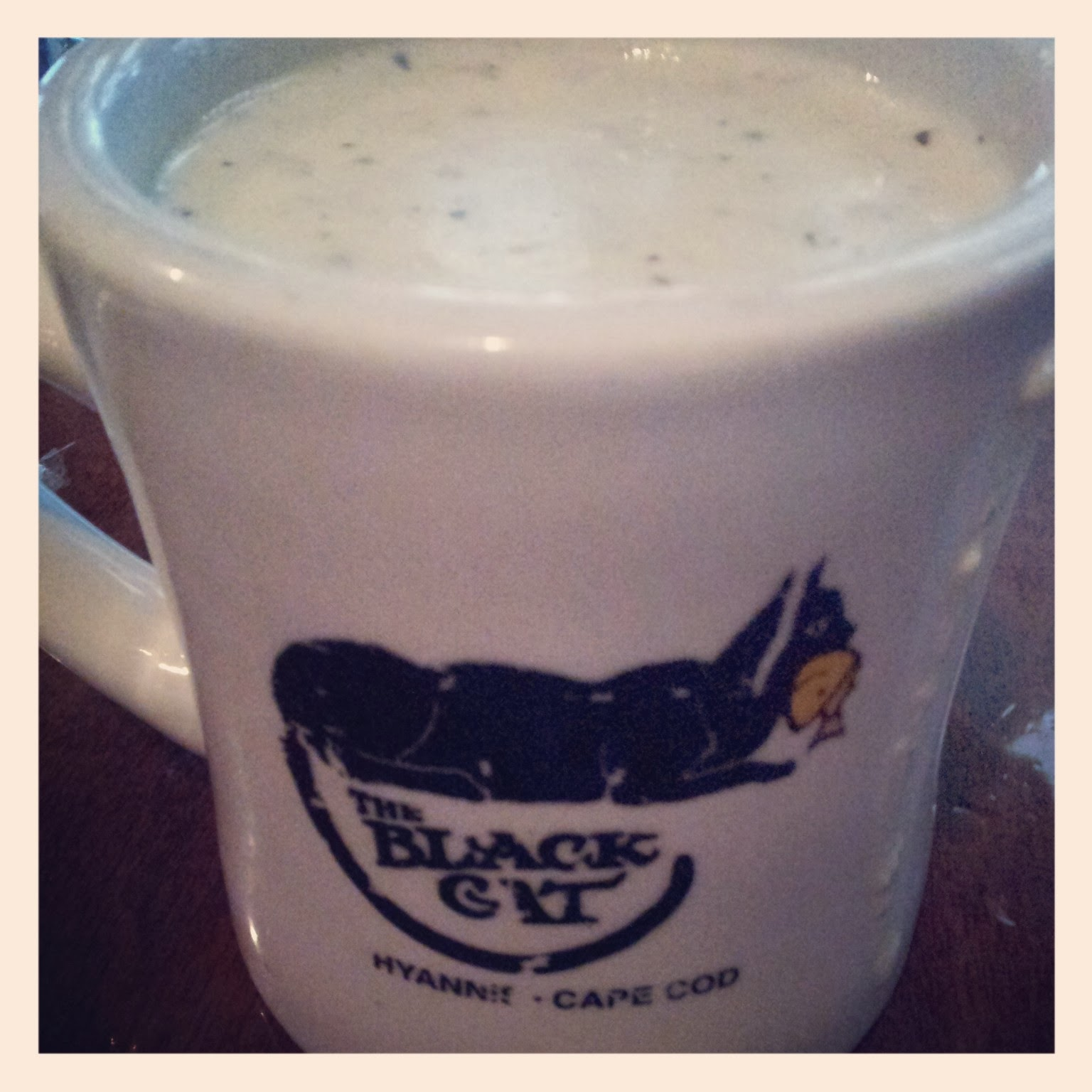 Clam Chowder at Black Cat Tavern, Hyannis, Cape Cod