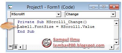Cara Mengunakan Hscrollbar Di Visual Basic