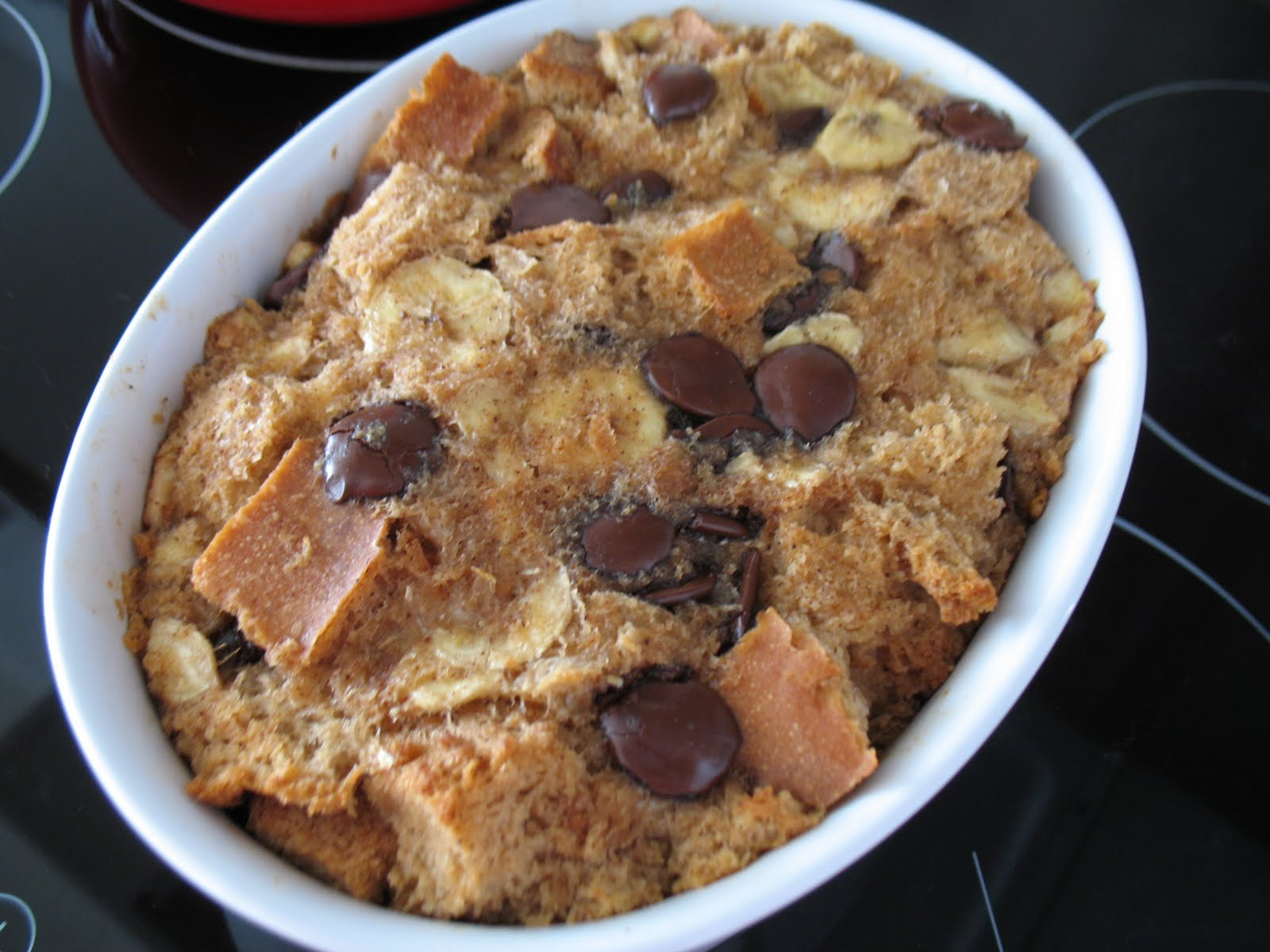 Strawberry- Chocolate Chip Bread Pudding Recipe — Dishmaps