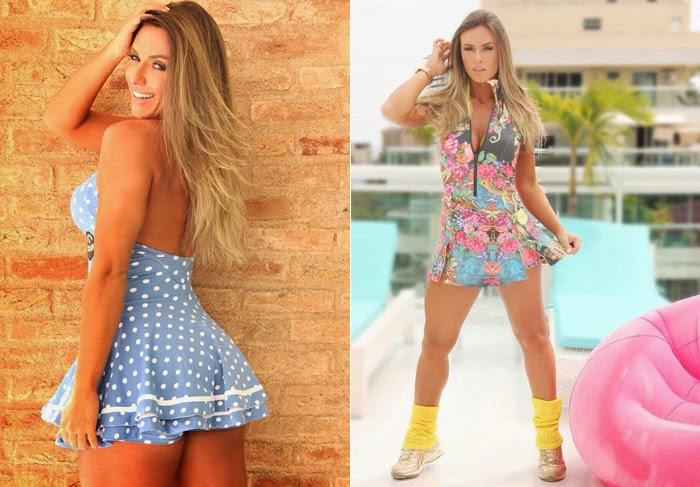 Nicole é uma das modelos mais requisitadas: Roupas fitness Clarabella