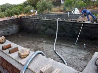 Construcci n de una piscina paso a paso 1 parte for Construccion de una piscina