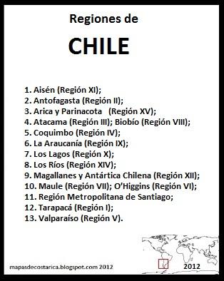 Regiones de Chile , organización territorial