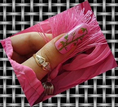 Enfriar el Diseño de Uñas Rosado