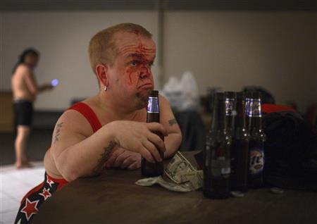 Bloody midget wrestling