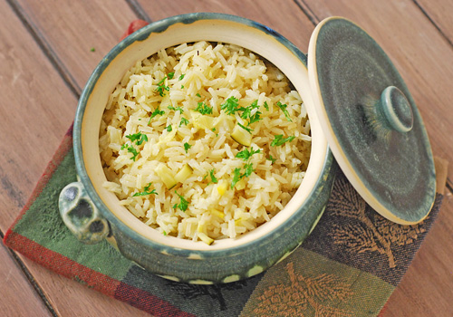 them up and added it to the lemon rice pilaf for an excellent rice ...