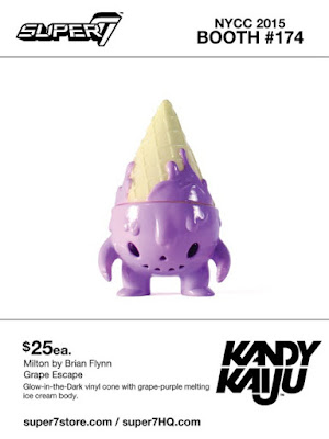 "New York Comic Con 2015 Exclusive Kandy Kaiju ""Grape Escape"" Milton Vinyl Figure by Super7 & Brian Flynn"