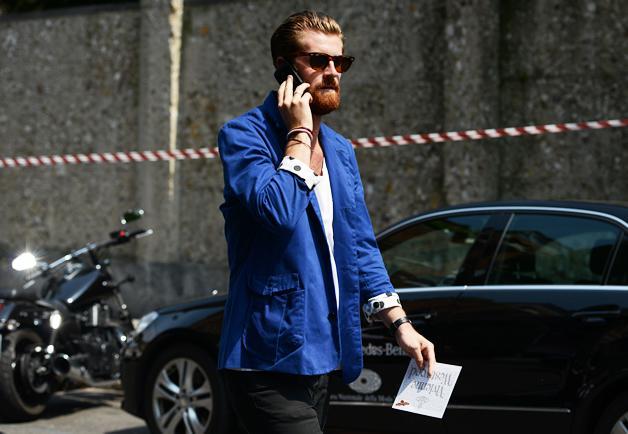 Cobalt blue streetstyle