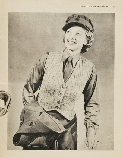 1940's Knitting - Waistcoat For Warmth